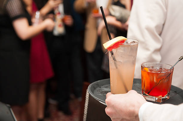 cocktail being served at a social event